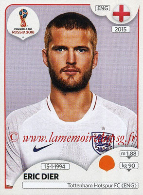 2018 - Panini FIFA World Cup Russia Stickers - N° 585 - Eric DIER (Angleterre)