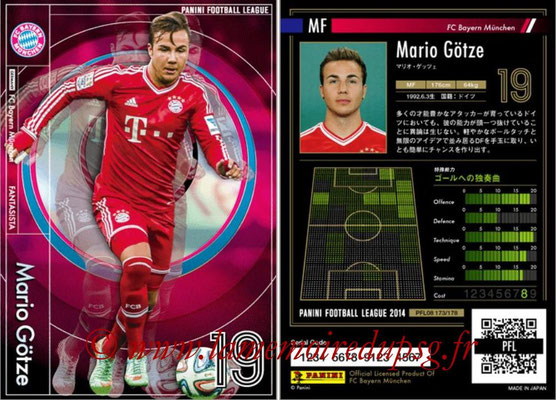 Panini Football League 2014 - PFL08 - N° 173 - Mario GÖTZE (Bayern Munich) (Fantasista)