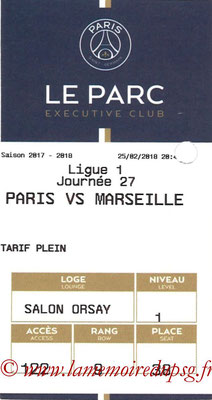 Tickets  PSG-Marseille  2017-18