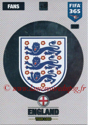 2016-17 - Panini Adrenalyn XL FIFA 365 - N° 293 - Logo Angleterre (Club Badge)
