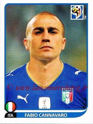 2010 - Panini FIFA World Cup South Africa Stickers - N° 413 - Fabio CANNAVARO (Italie)