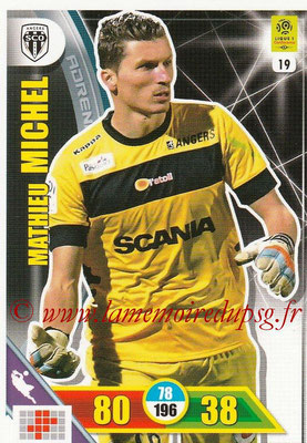 2017-18 - Panini Adrenalyn XL Ligue 1 - N° 019 - Mathieu MICHEL (Angers)