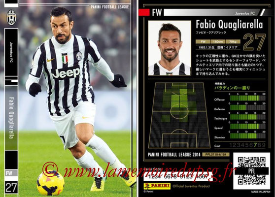 Panini Football League 2014 - PFL07 - N° 014 - Fabio QUAGLIARELLA (Juventus FC)
