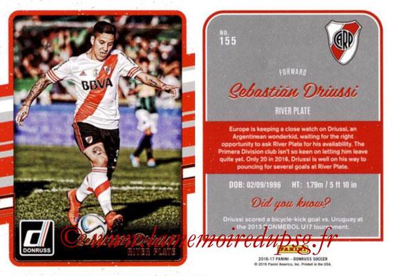 2016 - Panini Donruss Cards - N° 155 - Sebastian DRIUSSI (River Plate)