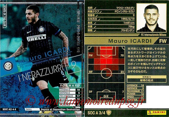 2013-14 - WCCF - N° SOC A3 - Mauro ICARDI (FC Inter Milan) (Stars Of The Club)