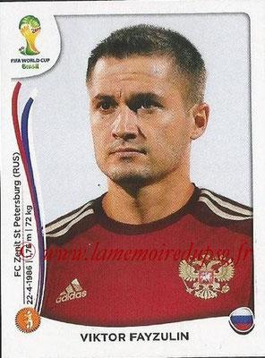 2014 - Panini FIFA World Cup Brazil Stickers - N° 613 - Viktor FAYZULIN (Russie)