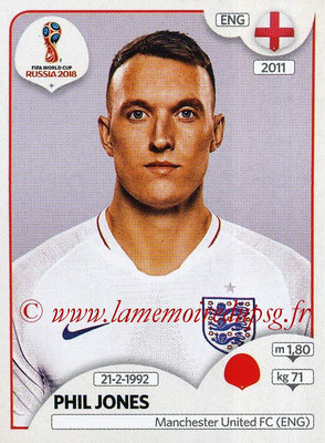2018 - Panini FIFA World Cup Russia Stickers - N° 581 - Phil JONES (Angleterre)