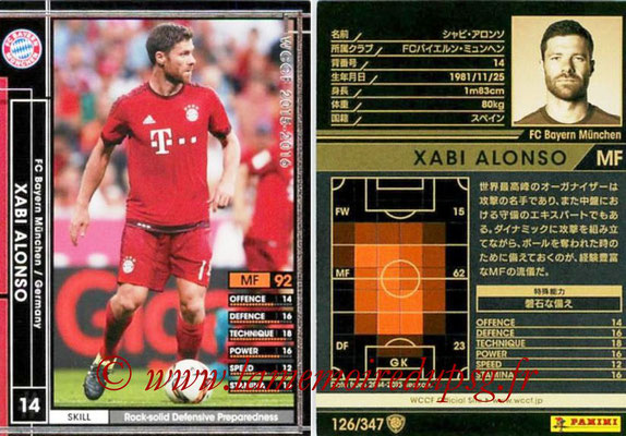 2015-16 - Panini WCCF - N° 126 - Xabi ALONSO (FC Bayern Munich)