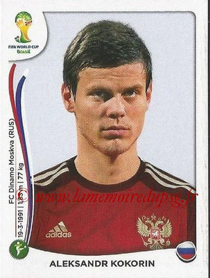 2014 - Panini FIFA World Cup Brazil Stickers - N° 619 - Aleksandr KOKORIN (Russie)