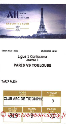 Tickets  PSG-Toulouse  2019-20