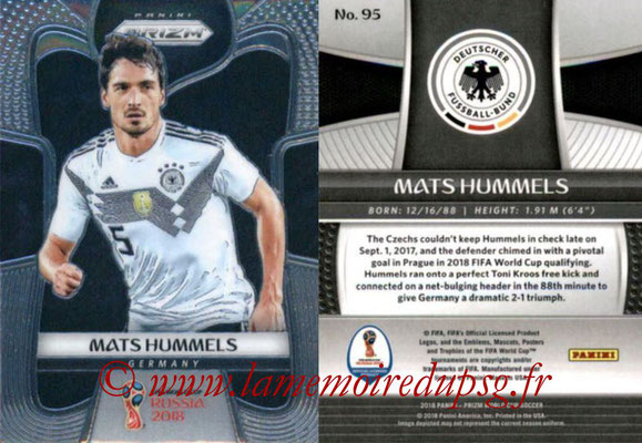 2018 - Panini Prizm FIFA World Cup Russia - N° 095 - Mats HUMMELS (Allemagne)