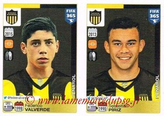 2015-16 - Panini FIFA 365 Stickers - N° 830-831 - Federico VALVERDE + Sebastián PIRIZ (Penarol)