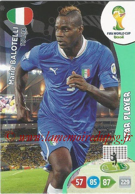 2014 - Panini FIFA World Cup Brazil Adrenalyn XL - N° 218 - Mario BALOTELLI (Italie) (Star Player)
