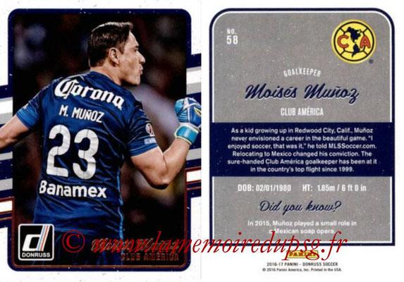 2016 - Panini Donruss Cards - N° 058 - Moisés MUNOZ (Club América)