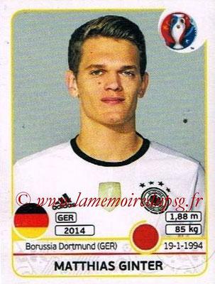 Panini Euro 2016 Stickers - N° 245 - Matthias GINTER (Allemagne)