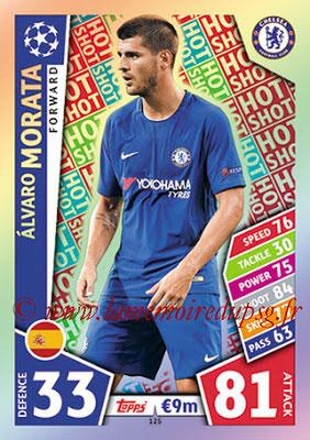 2017-18 - Topps UEFA Champions League Match Attax - N° 125 - Alvaro MORATA (Chelsea FC) (Hot Shot)