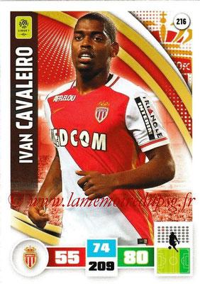 2016-17 - Panini Adrenalyn XL Ligue 1 - N° 216 - Ivan CAVALEIRO (Monaco)