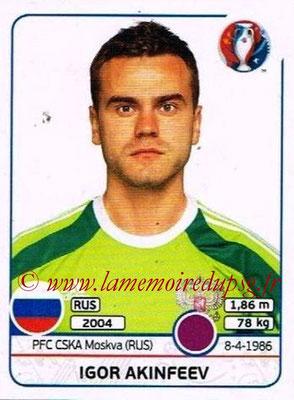 Panini Euro 2016 Stickers - N° 161 - Igor AKINFEEV (Russie)