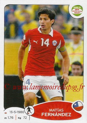 2014 - Panini Road to FIFA World Cup Brazil Stickers - N° 167 - Matias FERNANDEZ (Chili)