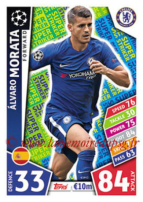2017-18 - Topps UEFA Champions League Match Attax - N° SS07 - Alvaro MORATA (Chelsea FC) (Super Strikers)