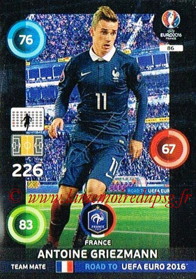 Panini Road to Euro 2016 Cards - N° 086 - Antoine GRIEZMANN (France)