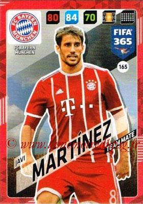 2017-18 - Panini FIFA 365 Cards - N° 165 - Javi MARTINEZ (FC Bayern Munich)