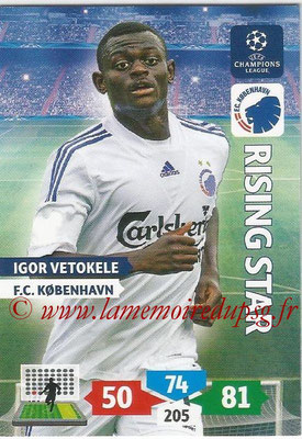 2013-14 - Adrenalyn XL champions League N° 161 - Igor VETOKELE (FC Kobenhavn) (Rising Star)