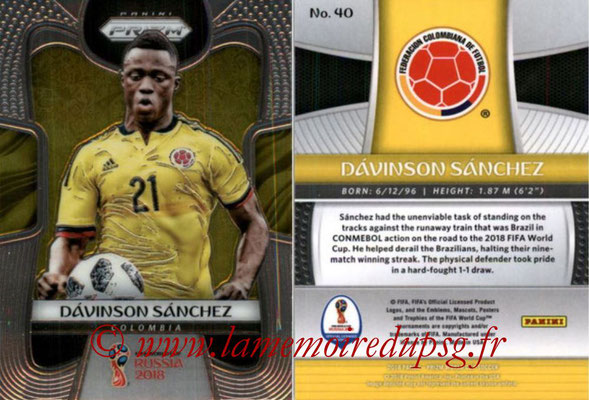 2018 - Panini Prizm FIFA World Cup Russia - N° 040 - Davinson SANCHEZ (Colombie)