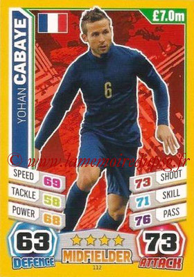 N° 112 - Yohan CABAYE (Jan 2014-??, PSG > 2014, France)