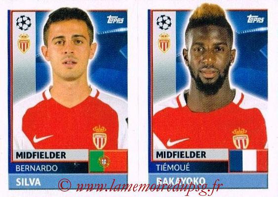 2016-17 - Topps UEFA Champions League Stickers - N° QFH 9-10 - Tiémoué BAKAYOKO + Bernardo SILVA (AS Monaco)