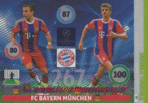 2014-15 - Adrenalyn XL champions League N° 353 - Mario GOTZE et Thomas MULLER (FC Bayern Munchen) (Double Trouble)