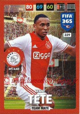 2016-17 - Panini Adrenalyn XL FIFA 365 - N° 229 - Kenny TETE (AFC Ajax)