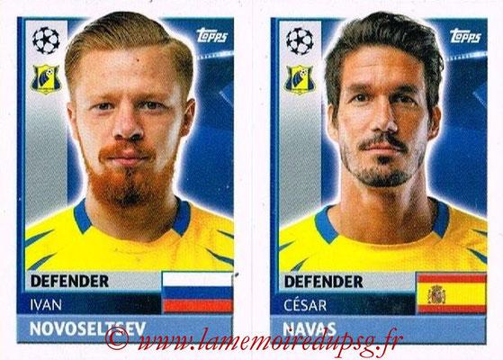 2016-17 - Topps UEFA Champions League Stickers - N° QFK 5-6 - César NAVAS + Ivan NOVOSELTSEV (FC Rostov)