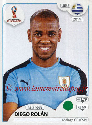 2018 - Panini FIFA World Cup Russia Stickers - N° 111 - Diego ROLAN (Uruguay)