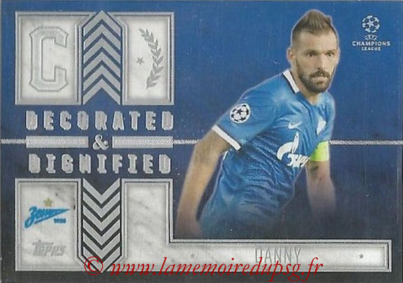 2015-16 - Topps UEFA Champions League Showcase Soccer - N° DD-D - DANNY (FC Zenit) (Decorated and Dignified)