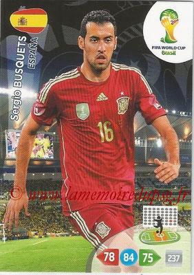 2014 - Panini FIFA World Cup Brazil Adrenalyn XL - N° 148 - Sergio BUSQUETS (Espagne)