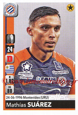2018-19 - Panini Ligue 1 Stickers - N° T25 - Mathias SUAREZ (Montpellier) (Transfert)