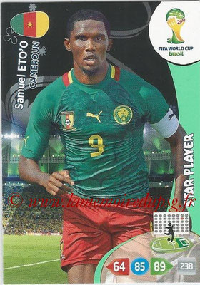 2014 - Panini FIFA World Cup Brazil Adrenalyn XL - N° 066 - Samuel ETO'O (Cameroun) (Star Player)