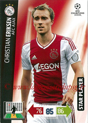 2012-13 - Adrenalyn XL champions League N° 006 - Christian ERIKSEN (AFC Ajax) (Star Player)
