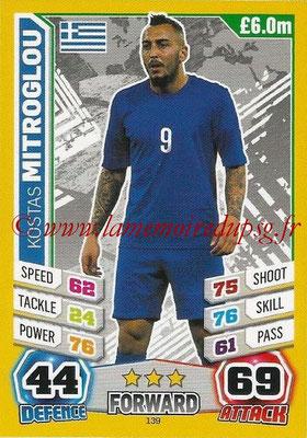 Topps Match Attax England 2014 - N° 139 - Kostas MITROGLOU (Grèce)