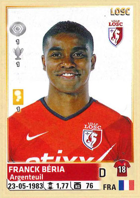 2014-15 - Panini Ligue 1 Stickers - N° 151 - Franck BERIA (Lille OSC)