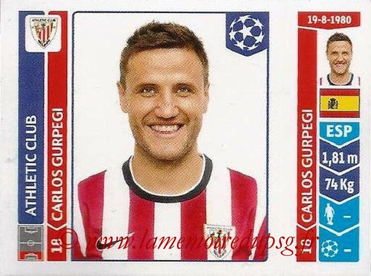 2014-15 - Panini Champions League N° 599 - Carlos GURPEGI (Athletic Club Bilbao)