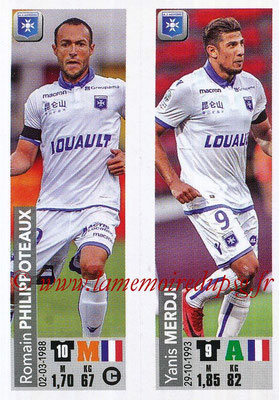 2018-19 - Panini Ligue 1 Stickers - N° 519 - Romain PHILIPPOTEAUX + Yanis MERDJI (AJ Auxerre)