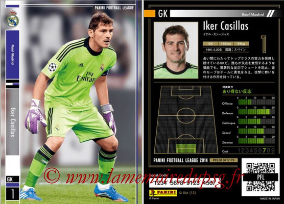 Panini Football League 2014 - PFL08 - N° 041 - Iker CASILLAS (Real Madrid)