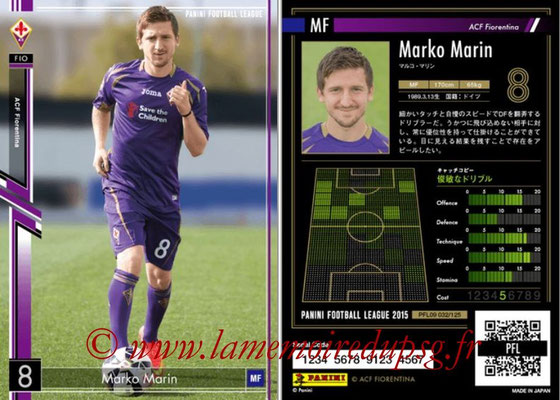 Panini Football League 2015 - PFL09 - N° 032 - Marko MARIN (Fiorentina)