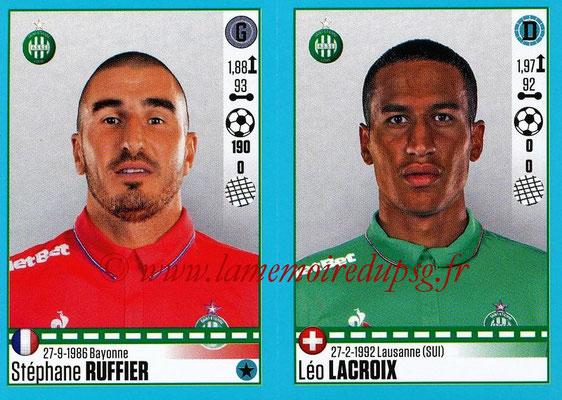 2016-17 - Panini Ligue 1 Stickers - N° 778 + 779 - Stéphane RUFFIER + Léo LACROIX (Saint-Etienne)