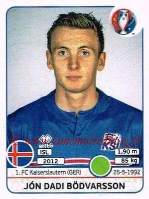 Panini Euro 2016 Stickers - N° 623 - Jon Dadi BODVARSSON (Islande)