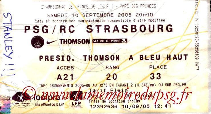 Tickets  PSG-Strasbourg  2005-06