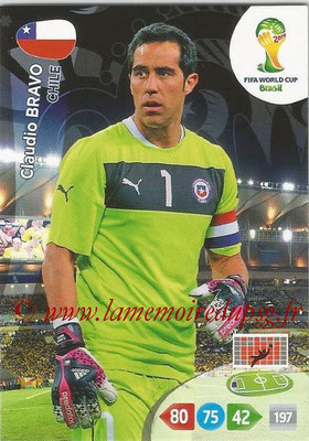 2014 - Panini FIFA World Cup Brazil Adrenalyn XL - N° 068 - Claudio BRAVO (Chili)