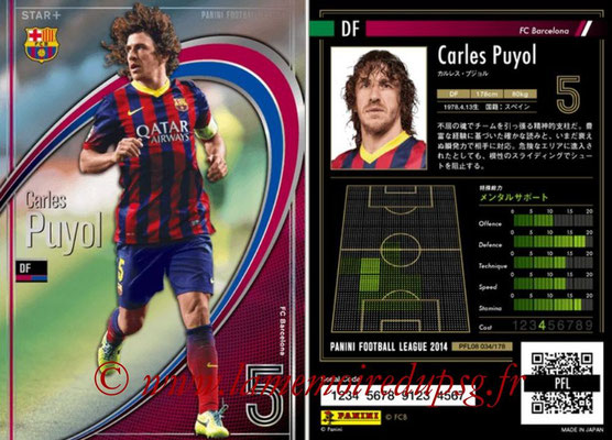 Panini Football League 2014 - PFL08 - N° 034 - Carles PUYOL (FC Barcelone) (Star +)